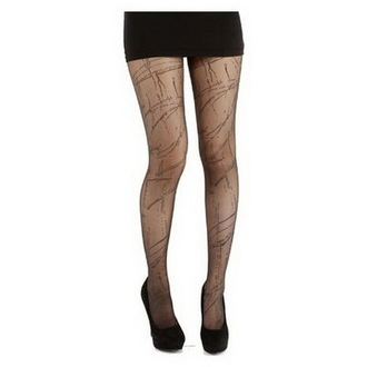 tights PAMELA MANN - Sheer Splash - Black / Black - PM209