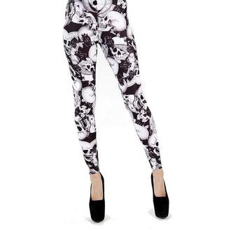 pants women (leggings) PAMELA MANN - Riley - Black / White - PM201