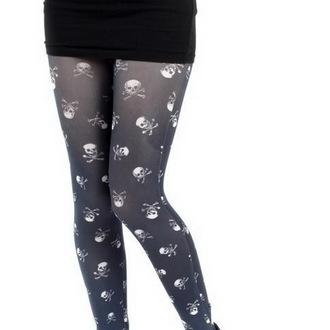 tights PAMELA MANN - Skulls B Printed - Black / White, PAMELA MANN