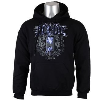 hoodie men's AC-DC - Plug me in - LOW FREQUENCY, LOW FREQUENCY, AC-DC