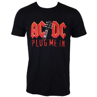 t-shirt metal men's AC-DC - Plug me in with Angus Young - LOW FREQUENCY, LOW FREQUENCY, AC-DC