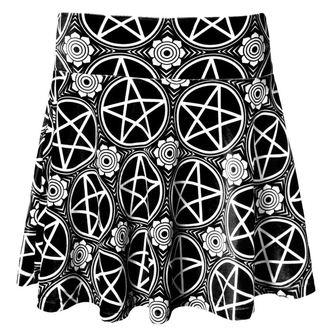 skirt women's KILLSTAR - Pentagram Velvet - Black - KIL088