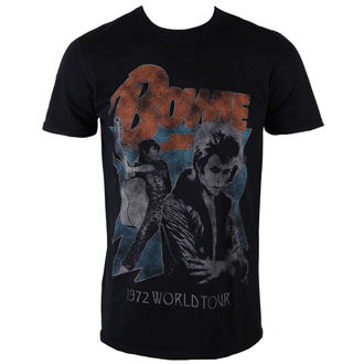 t-shirt metal men's David Bowie - 1972 World Tour - ROCK OFF - BOWTS10MB