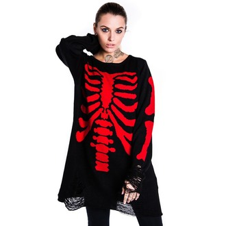 sweater (unisex) KILLSTAR - Skeletor - Red, KILLSTAR