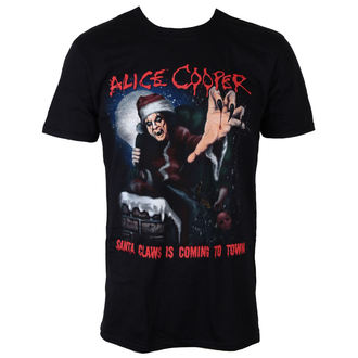 t-shirt metal men's Alice Cooper - Santa Claws - ROCK OFF, ROCK OFF, Alice Cooper