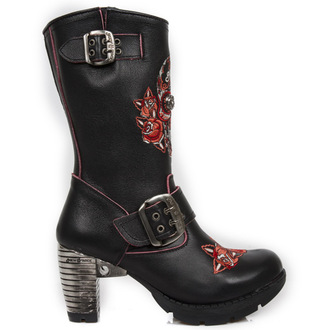 high heels women's - BORDADOS ROJOS, TRAIL NEGRO TACON ACER - NEW ROCK, NEW ROCK