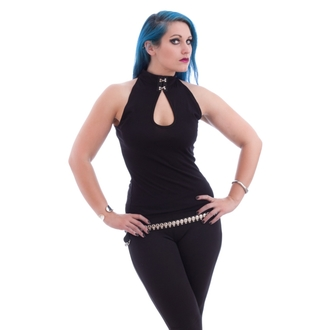 top women NECESSARY EVIL - Shala Keyhole - Black, NECESSARY EVIL