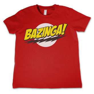 film t-shirt children's Teorie velkého třesku - Bazinga Super Logo - HYBRIS, HYBRIS