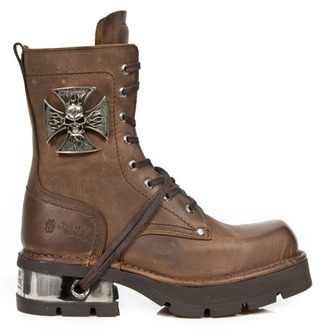 leather boots women's - VENTURE AVIADOR MARRON M3 ACERO ORIF - NEW ROCK, NEW ROCK