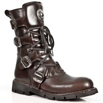 leather boots women's - PLANING MARRON SIN - NEW ROCK, NEW ROCK