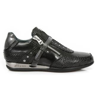 leather boots women's - PITON NEGRO PULIK - NEW ROCK