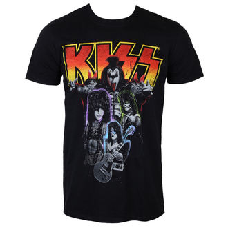 t-shirt metal men's Kiss - Neon Band - PLASTIC HEAD - PH9355