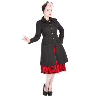 coat women's spring/fall HEARTS AND ROSES - Brocade Military - Black, HEARTS AND ROSES