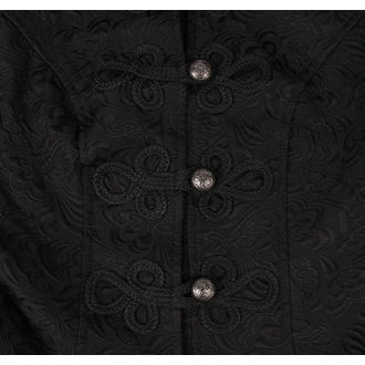 coat women's spring/fall HEARTS AND ROSES - Brocade Military - Black - 9189