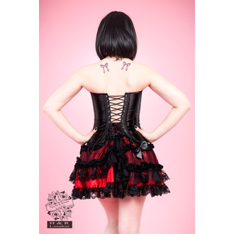 corset women's HEARTS AND ROSES - Black Satin, HEARTS AND ROSES