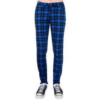 pants (unisex) 3RDAND56th - Checked - Black / Royal, 3RDAND56th
