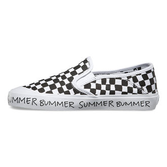 low sneakers women's - Slip-On (Summer Bummer) Checkeboard - VANS, VANS