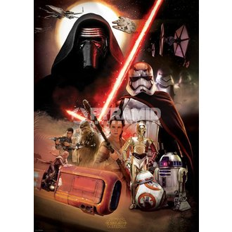 poster Star Wars - Episode VII (Montage) - PYRAMID POSTERS, PYRAMID POSTERS