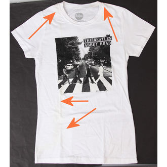 t-shirt women Beatles - Abbey Road - Bravado - DAMAGED, BRAVADO, Beatles