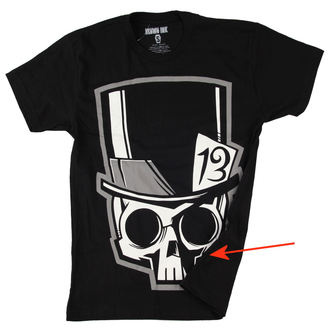 t-shirt men Akumu Ink - Skull13 - Grey- DAMAGED, Akumu Ink