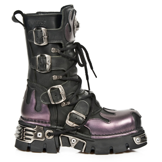 leather boots women's - ITALI NEGRO - NEW ROCK, NEW ROCK