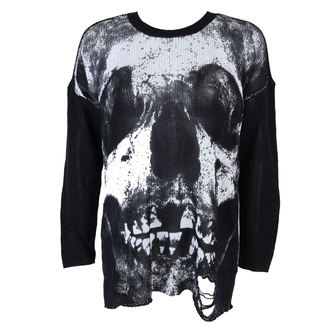 sweater women's IRON FIST - Loose Tooth Torn - Black - IFW004249