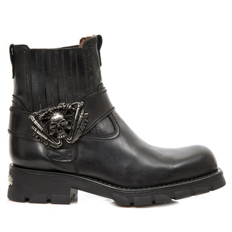 leather boots women's - ITALI MOTORCYCLE NEGRO - NEW ROCK, NEW ROCK