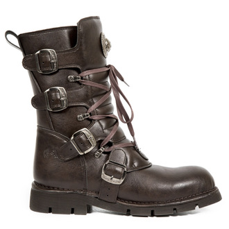leather boots women's - VEGAN MICRO MARRON SIN - NEW ROCK, NEW ROCK