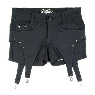 shorts women VIXXSIN - Suspender - Black - POI065