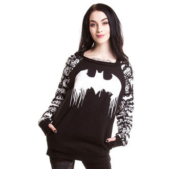 sweatshirt (no hood) women's Batman - Graffiti - POIZEN INDUSTRIES, POIZEN INDUSTRIES