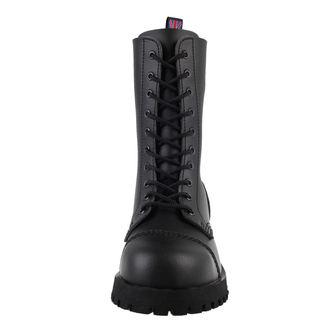 boots NEVERMIND - 10 eyelet - Vegan - Black Synthetic, NEVERMIND