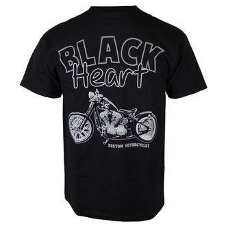 t-shirt street men's - Custom Bobber - BLACK HEART, BLACK HEART
