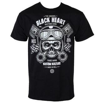 t-shirt street men's - Piston Skull - BLACK HEART, BLACK HEART