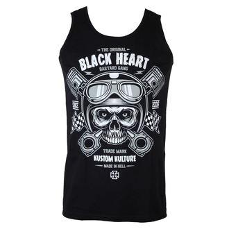 top men BLACK HEART - Piston Skull, BLACK HEART