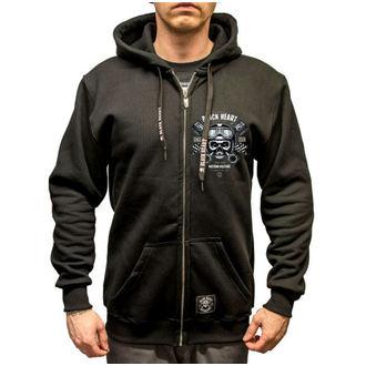 hoodie men's - Piston Skull - BLACK HEART, BLACK HEART