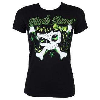 t-shirt street women's - Bones Girl - BLACK HEART, BLACK HEART