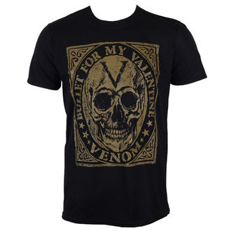 t-shirt metal men's Bullet For my Valentine - Venom Skull - ROCK OFF - BFMVTS15MB