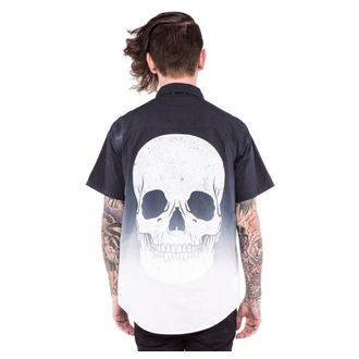 shirt men IRON FIST - Death Breath - Dip dyed - Black / White - IFM004003