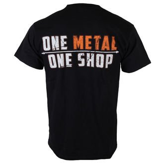 t-shirt metal men's - Black - METALSHOP - MS015