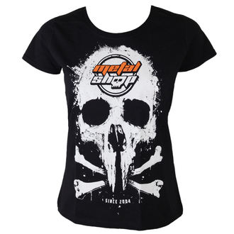 t-shirt metal women's - Black - METALSHOP - MS017