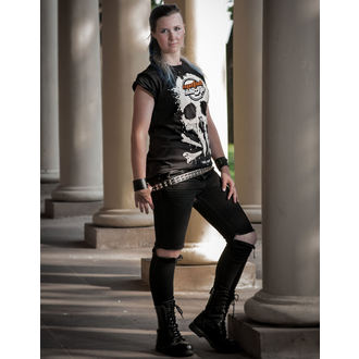 t-shirt metal women's - Black - METALSHOP, METALSHOP