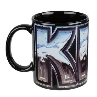 cup Kiss - Chrome Logo - Black ROCK OFF, ROCK OFF, Kiss