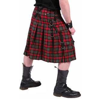 kilt men's DEAD THREADS - Red / Grey, DEAD THREADS