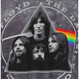 t-shirt metal men's Pink Floyd - Dark Side Group Tie-Dye - LIQUID BLUE, LIQUID BLUE, Pink Floyd
