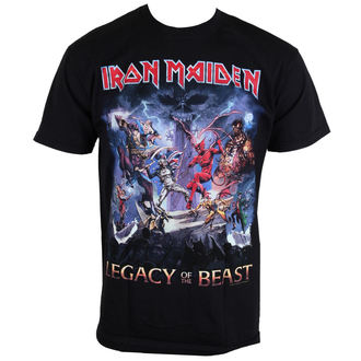 t-shirt metal men's Iron Maiden - Legacy Of The Beast - ROCK OFF, ROCK OFF, Iron Maiden