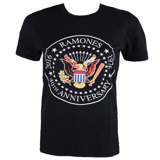 t-shirt metal men's Ramones - 40th Anniversarry Seal - ROCK OFF, ROCK OFF, Ramones