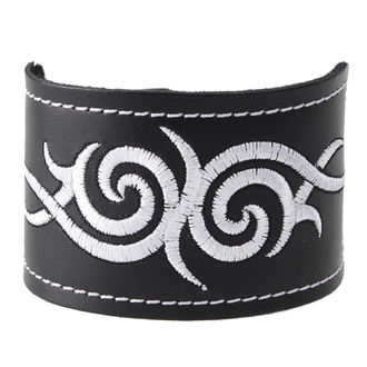 bracelet Tribal - White, BLACK & METAL
