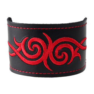 bracelet Tribal - Red, BLACK & METAL