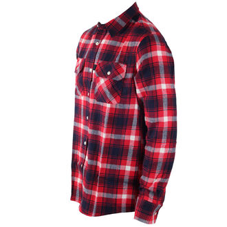 shirt men INDEPENDENT - Faction Red Check, INDEPENDENT