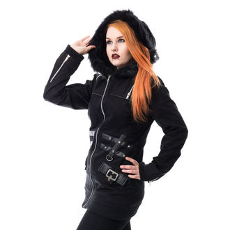 coat women's HEARTLESS - SARA - BLACK, HEARTLESS